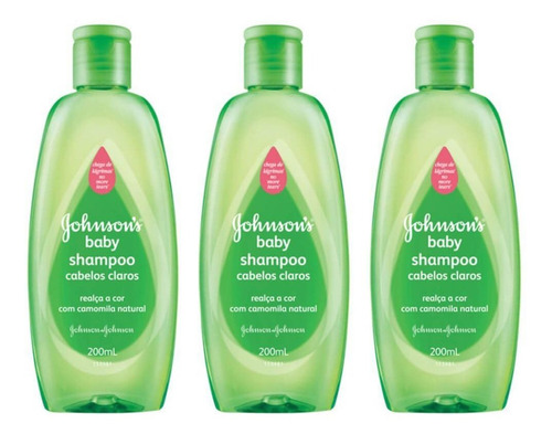 Johnsons Baby Cabelos Claros Shampoo 200ml (kit C/03)
