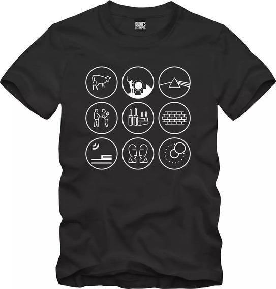 Camisa Pink Floyd - Camiseta Albuns Minimalista - Rock/music