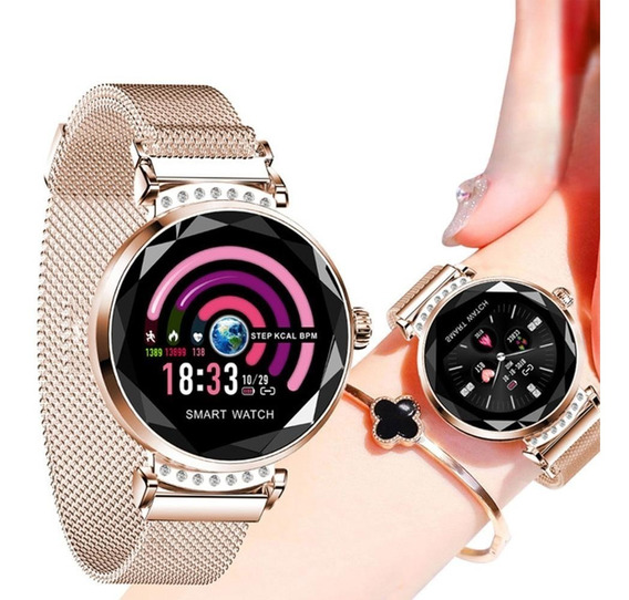 Smartwatch Reloj Inteligente Mujer Android Ios Impermeable