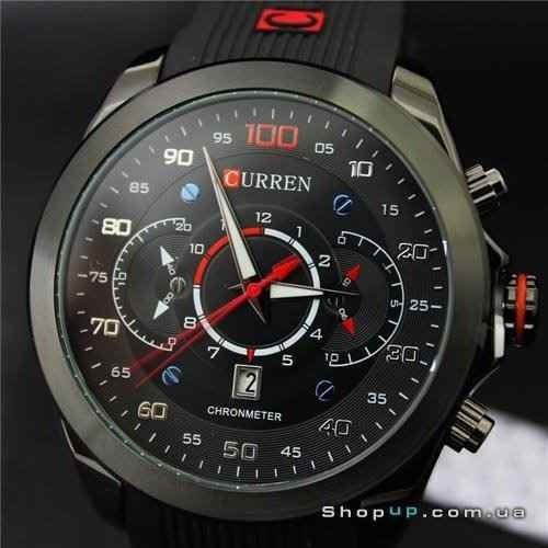 Relógio Grande Pulseira De Silicone Cor Preto A Prova D