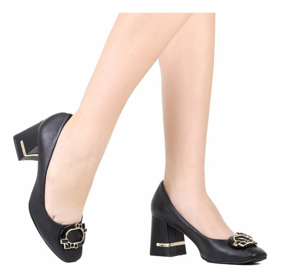 Sapato Jorge Bischoff Scarpin Couro