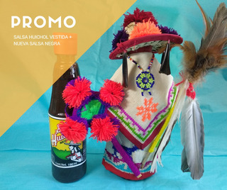 Promo Arte Huichol - Salsa Vestida + Salsa Huichol Negra