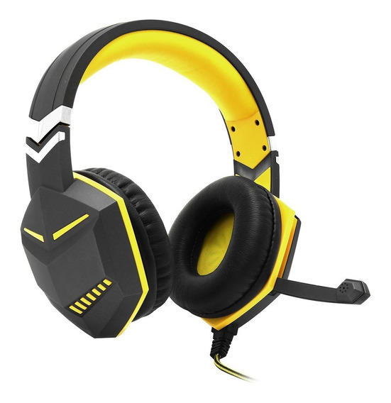 Headset Gamer Ps4 Xbox One Over Ear Fio Microfone P3 Amarelo