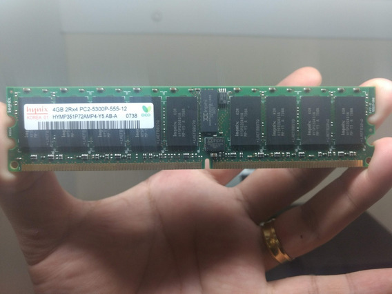 Memoria Ecc Registrada 4gb Pc2-5300p Hynix Dell Hp Ibm 2rx4