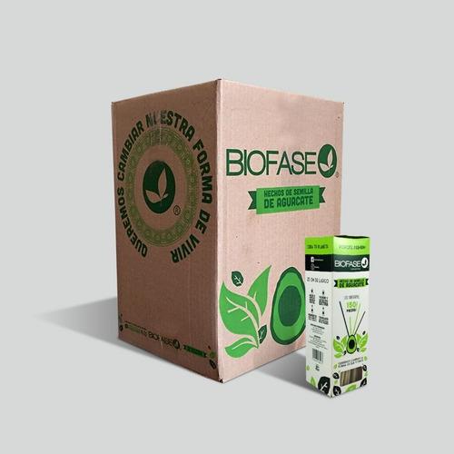 Popote Biofase Cajillas  Biodegradable A Base De Aguacate.