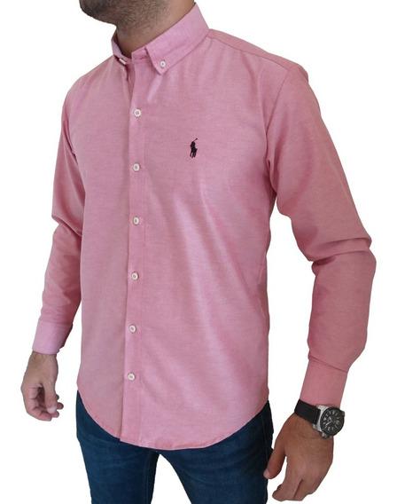 Camisas Polo Unicolor Manga Larga
