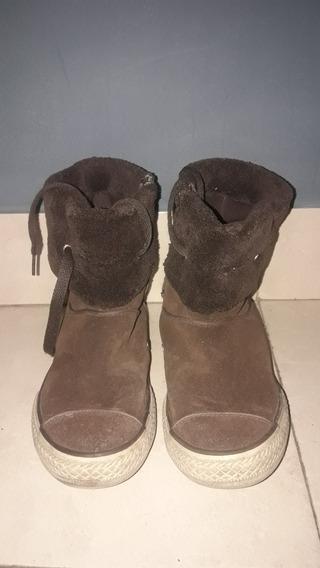 Zapatillas Botas Converse Marrones De Gamuza Original