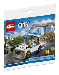 Auto De Policia & Oficial - Lego Original Nuevo