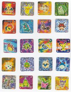 Coleção Tazos Jo-ken-pokemon Elma Chips 2001 Jokenpokemon !