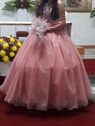 Vestido De Xv Años Color Palo De Rosa
