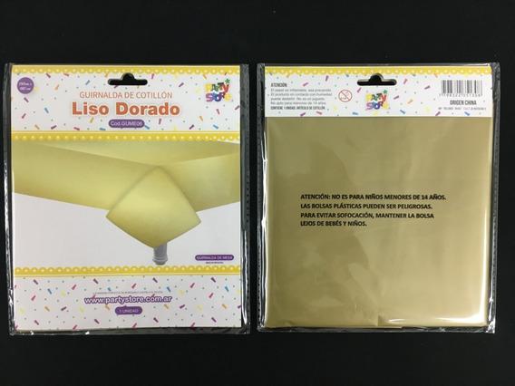 Mantel Plastico Liso Dorado 130x180 Cm