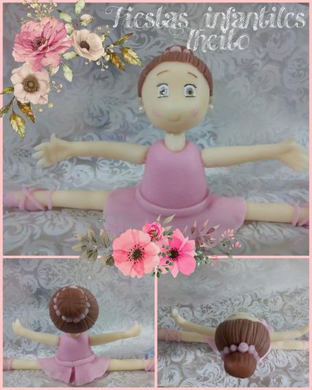 Adorno Para Torta Bailarina Nena Cumpleaños Porcelana Fría