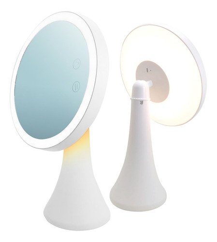 Velador Espejo Luz Led Lámpara Recargable Usb Maquillaje