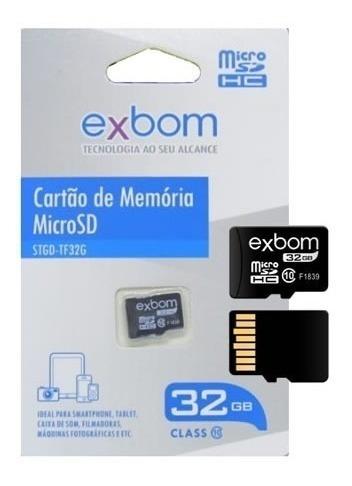 Cartão De Memória Exbom 32gb Para Celular Câmeras Aproveit