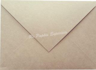 100 Envelopes Para Convite Rustico Kraft Tx 200g 15x21 Cm
