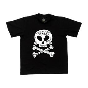 72f8c7bd6 Camiseta Caveira - Camisetas Manga Curta para Meninos no Mercado ...