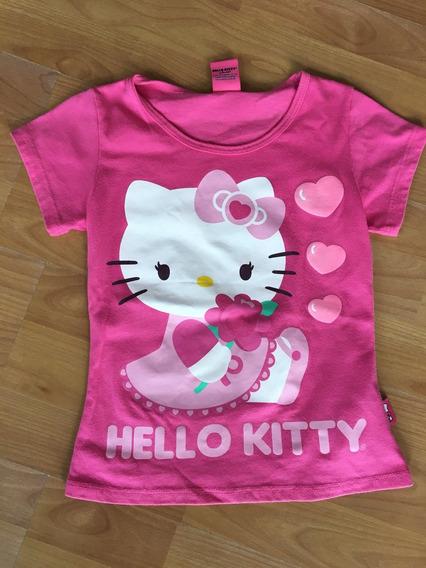 Playera Rosa Hello Kitty Talla 8