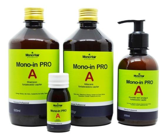 Kit Monovin Pro A Original Crescimento Capilar Acelerado (4 Itens) Autorizado Anvisa + Brinde