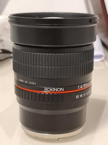 Lente Rokinon 85mm F1.4 E Mount Ful Frame P/sony Foco Manual