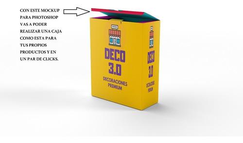 Mockup Caja De Productos Y Programas - Editable En Photoshop