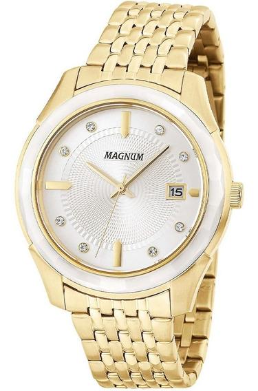Relógio Magnum Dourado Feminino Ma28832h