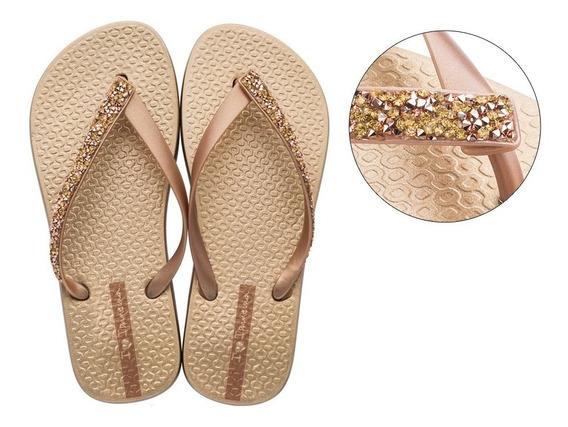Chinelo Ipanema Glam Feminino Special Original Dedo Sandália Calçado Dourado,prata,rosê Idêntico A Foto
