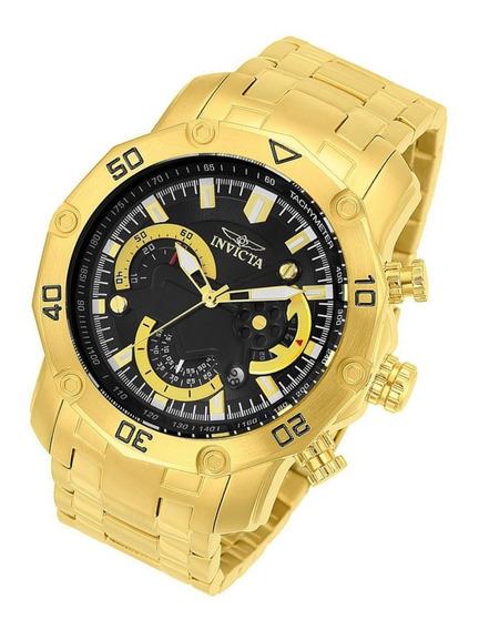 Relógio Invicta Pro Diver Original 22767 Dourado B. Ouro 18k