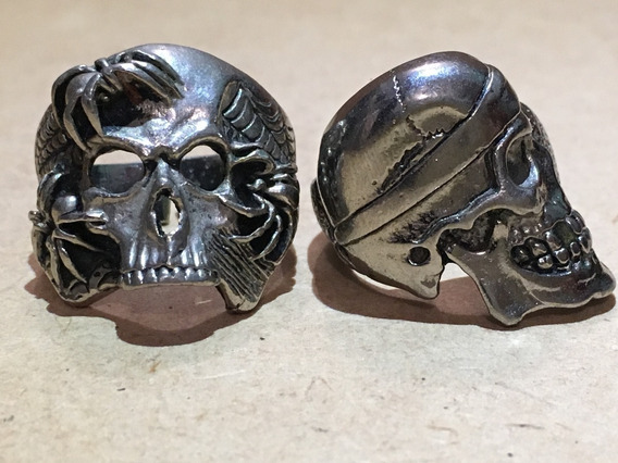 Anillos Biker Chopper Calaveras G&s Usa Plata Esterlina