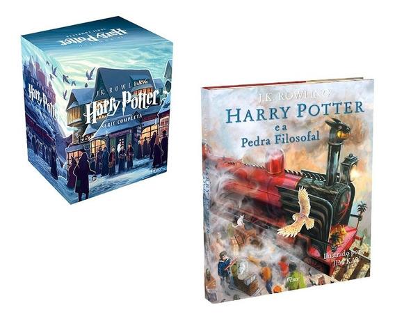 Box Harry Potter + Pedra Filosofal - Ilustrado (8 Livros)
