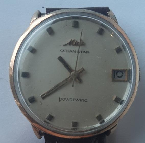 Relógio Mido Ocean Star Powerwind Plaqué Or Suiço Vintage