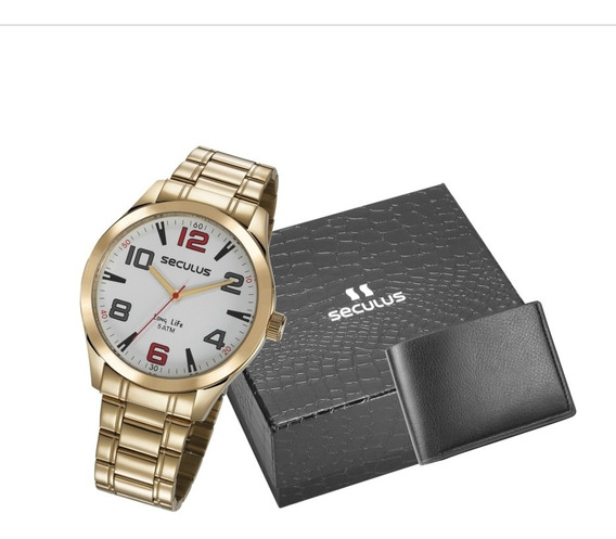 Relógio Kit Seculus Masculino 23654gpsvda2