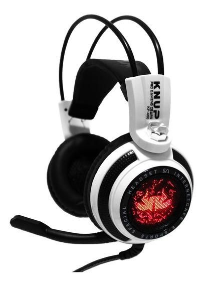 Fone Ouvido Headset Gamer 7.1 Bass Microfone Led Usb Kp-400