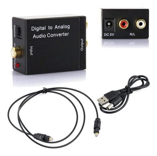 Convertidor De Audio Digital Óptico A Rca Analógico+ Cable