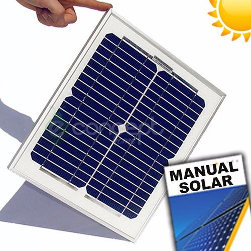 Panel Solar Fotovoltaico 10watts Para Cargar Baterías 12v