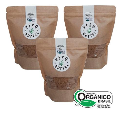 Imagem 1 de 1 de Kit Açúcar Mascavo Orgânico Vero Nuttri  (3 Un)