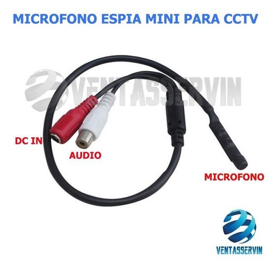 Microfono Espia Para Camaras De Seguridad 12v Cctv
