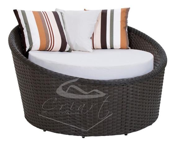Chaise 1,20 Na Promoção Concha Sofá Fibra Sintética Alumínio