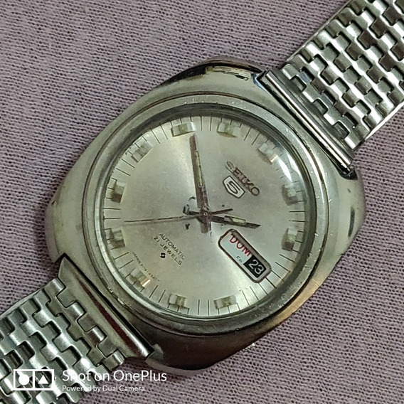 Relógio Seiko Aut. Masc. Aço Pulseira Original Japan Made