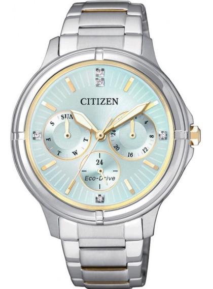 Reloj Eco Drive Mod Fd2034-50w Mujer Citizen