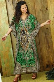 Vestido Longo Tipo Kaftan Indiano Indian House Diversos