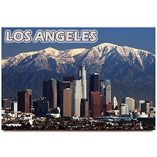 Imán De Nevera Los Angeles California Souvenir De Viaje