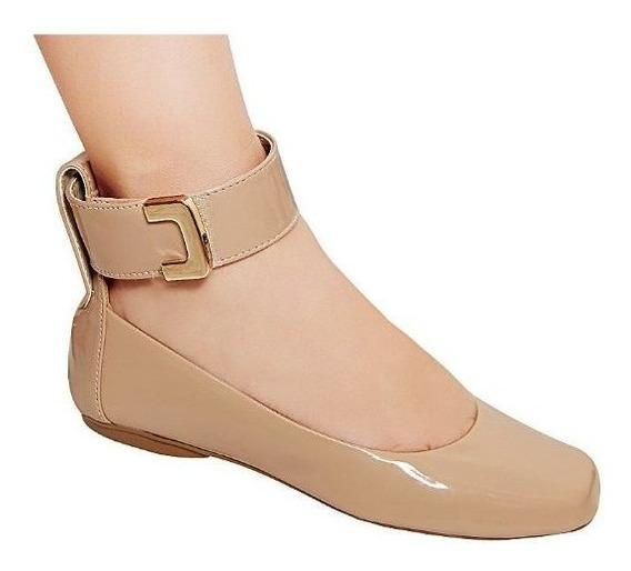 Sapato Sapatilha Feminina Boneca Vintage Verniz