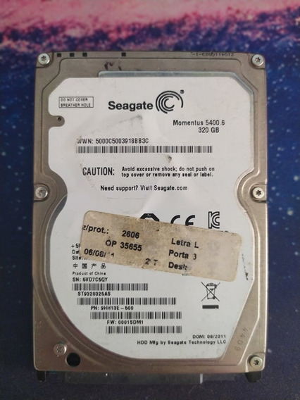Hd 320gb - Sata - Notebook - Seminovo Seagate