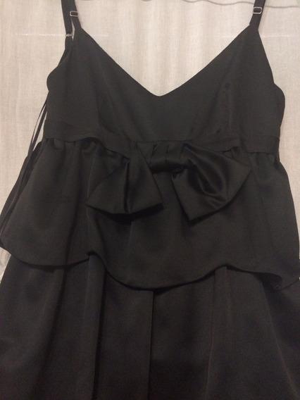 Vestido Corto Negro María Vázquez Talle S Excelente Estado