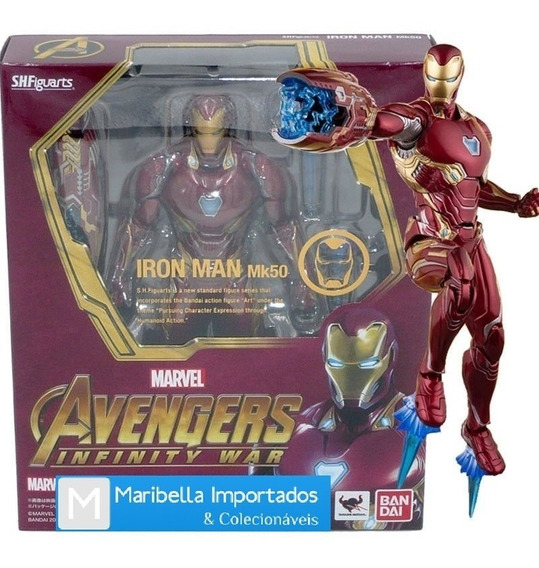 Action Figure Homem De Ferro (ironman) Mk 50 Guerra Infinita