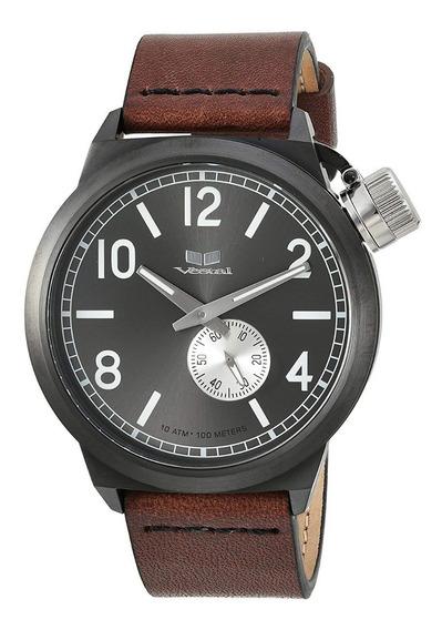 Reloj Vestal Canteen Negroitalia Cnt453l0 44mm *jcvboutique*