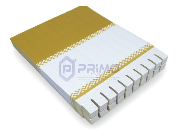 Pulseira Identificação P/ Impressora Jato Tinta Kit C/ 1600