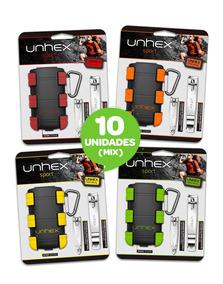 Combo 10 Unidades De Estojos Unhex Sport 01 Com 2 Cortadores
