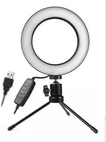Iluminador De Led Ring Ligth + Tripé 48 Leds