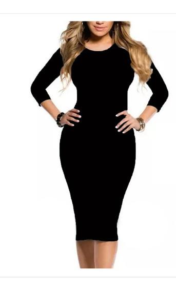 Vestido Midi Longuete Moda Evangélica Social Blogueira Justo